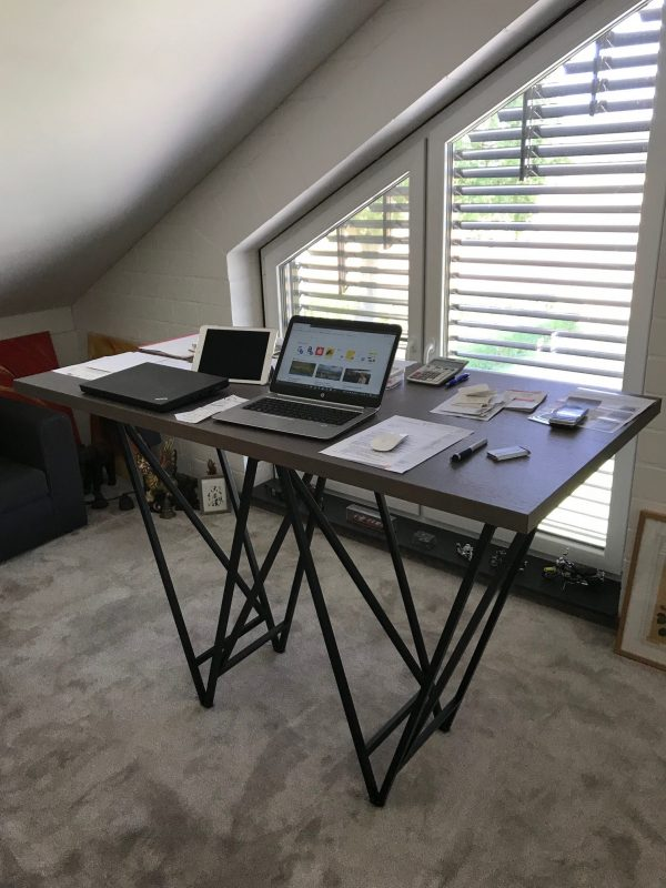 Schreibtisch STEVY - Schwarz/Eiche