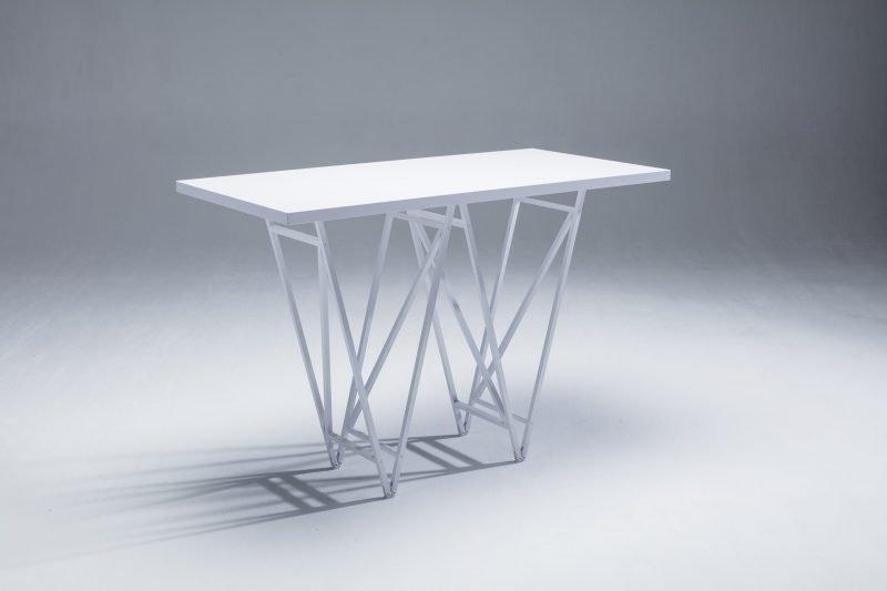 Designertisch STEVY - Stehtisch - Weiß