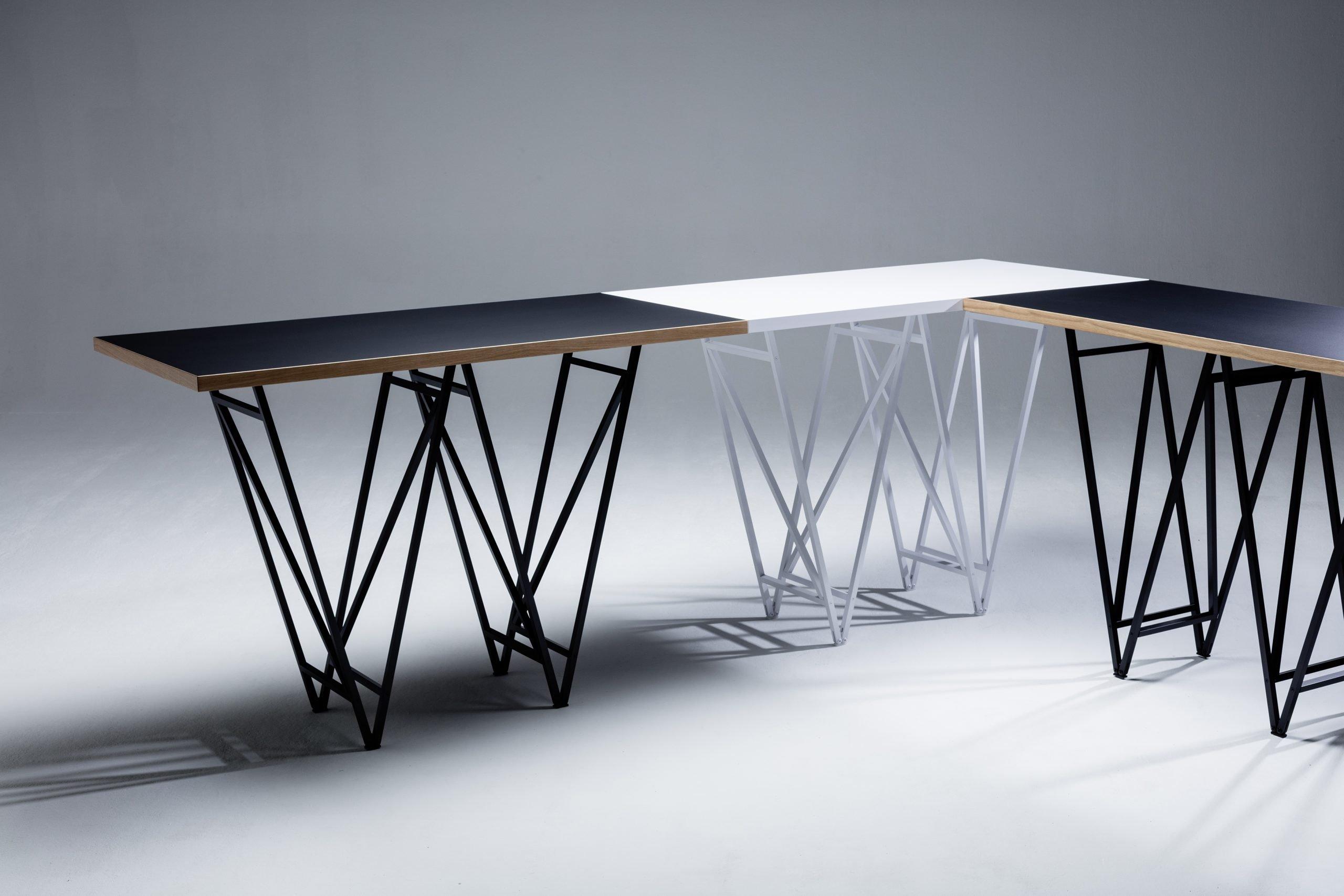 Designertisch STEVY – Aufbau- und Verbindungstechnik NEU 2021