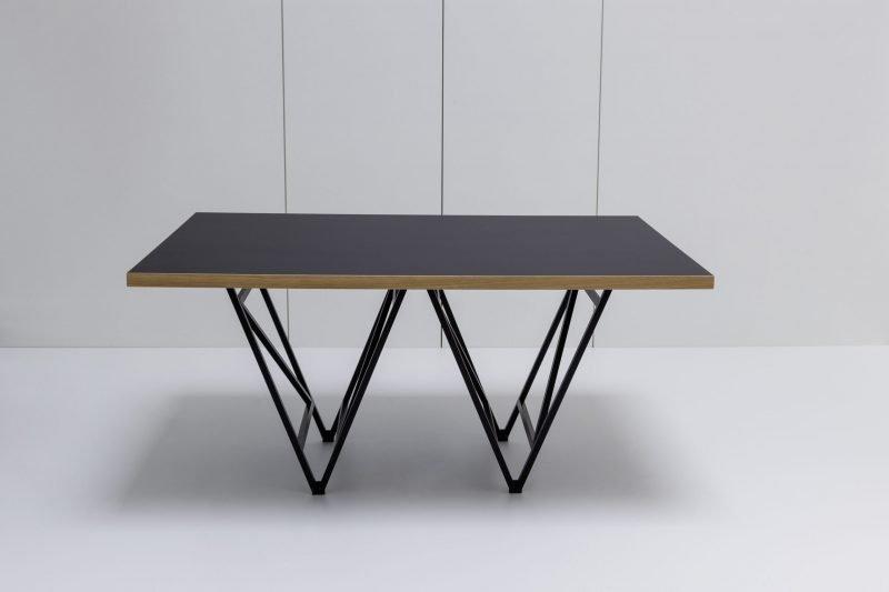 Designertisch STEVY - Schwarz/Eiche