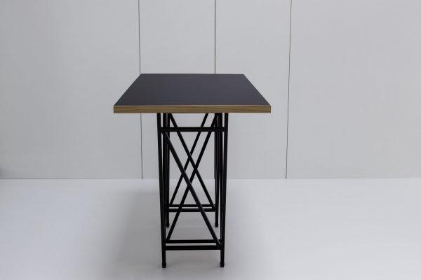 Designertisch STEVY - Stehtisch - Schwarz/Eiche